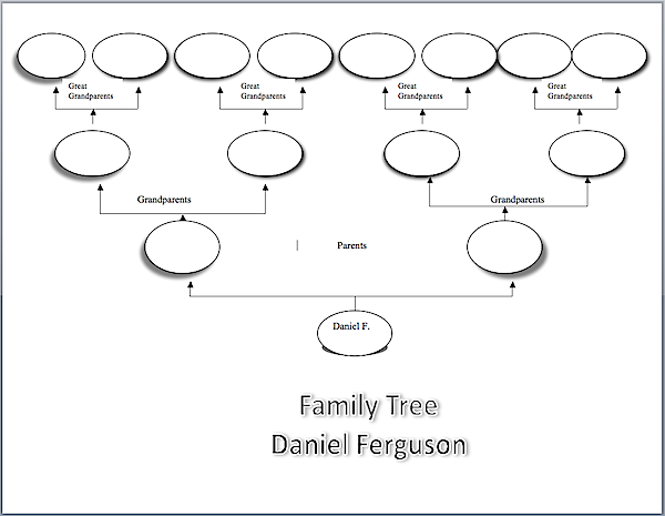 Family Tree Sample Visio Chart Family History Family Tree
