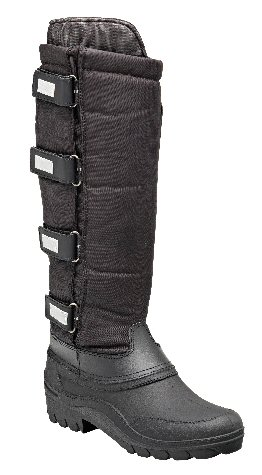 Harry Hall Ladies Snowboot - Fur lined long winter boot with waterproof foot and water repellent upper. Adjustable strap fastenings for better fit around the calf. Reflective straps.