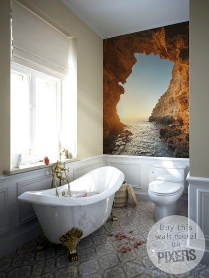 Fotomurales para el cuarto de baño | IDEAS DECO | Cuarto de baño ...