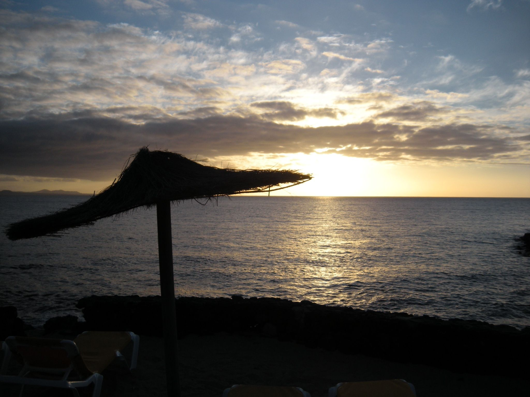 Puesta de sol. Enero 2013