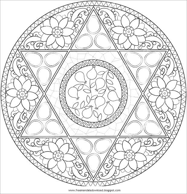 Boyama Kitabi Mandala Resim Cizmek