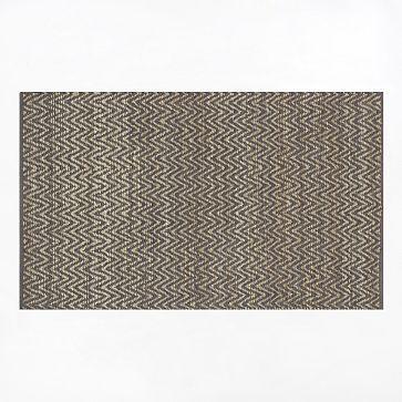 Jute Chenille Herringbone Rug - Natural/Slate #westelm $49