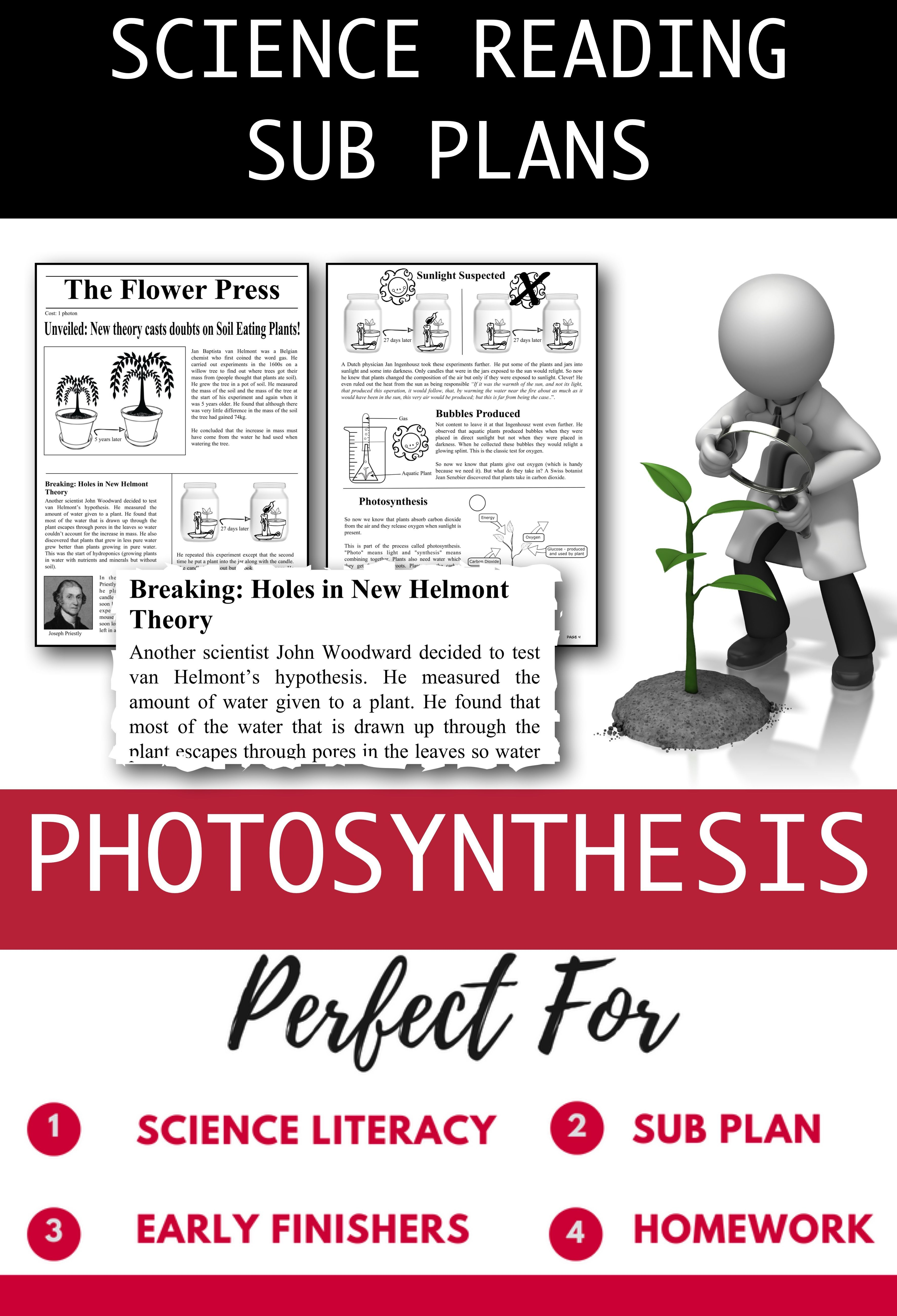 Distance Learning Science Literacy Photosynthesis Science
