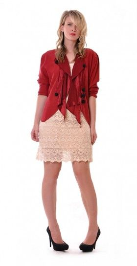 Rose Waterfall Cutout Jacket   Damsel Vintage