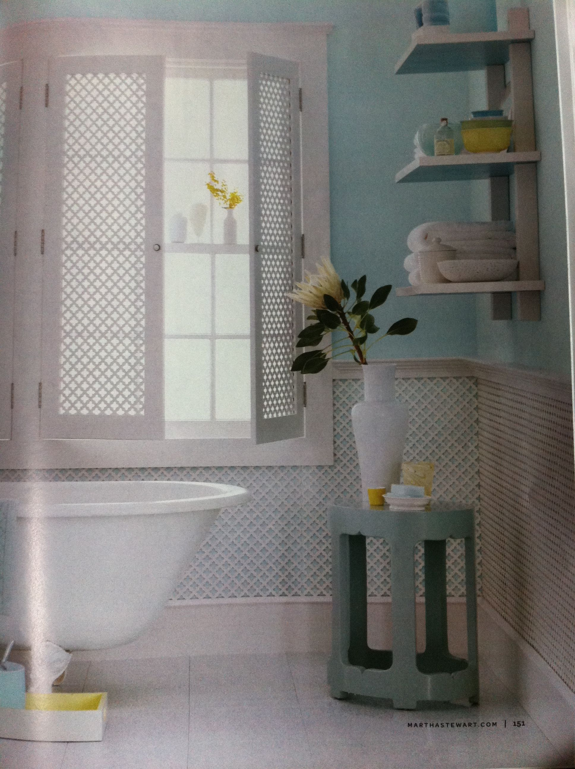 From Martha Stewart. Wall color is Benjamin Moore aura ...