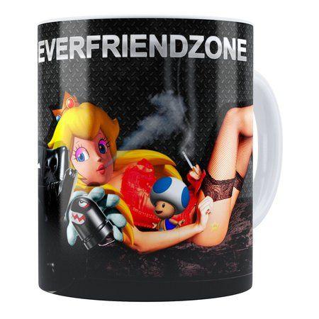 Caneca Super Mário Bros #NeverFriendZone Sexy 01