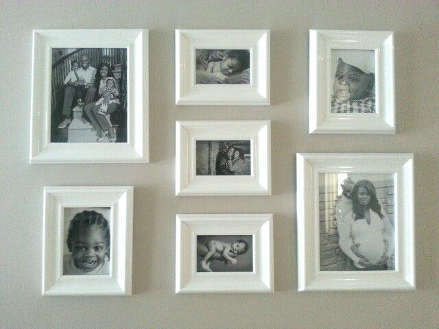 Frame collage for Foyer - I love white! ;) | etc.Decor | Pinterest ...