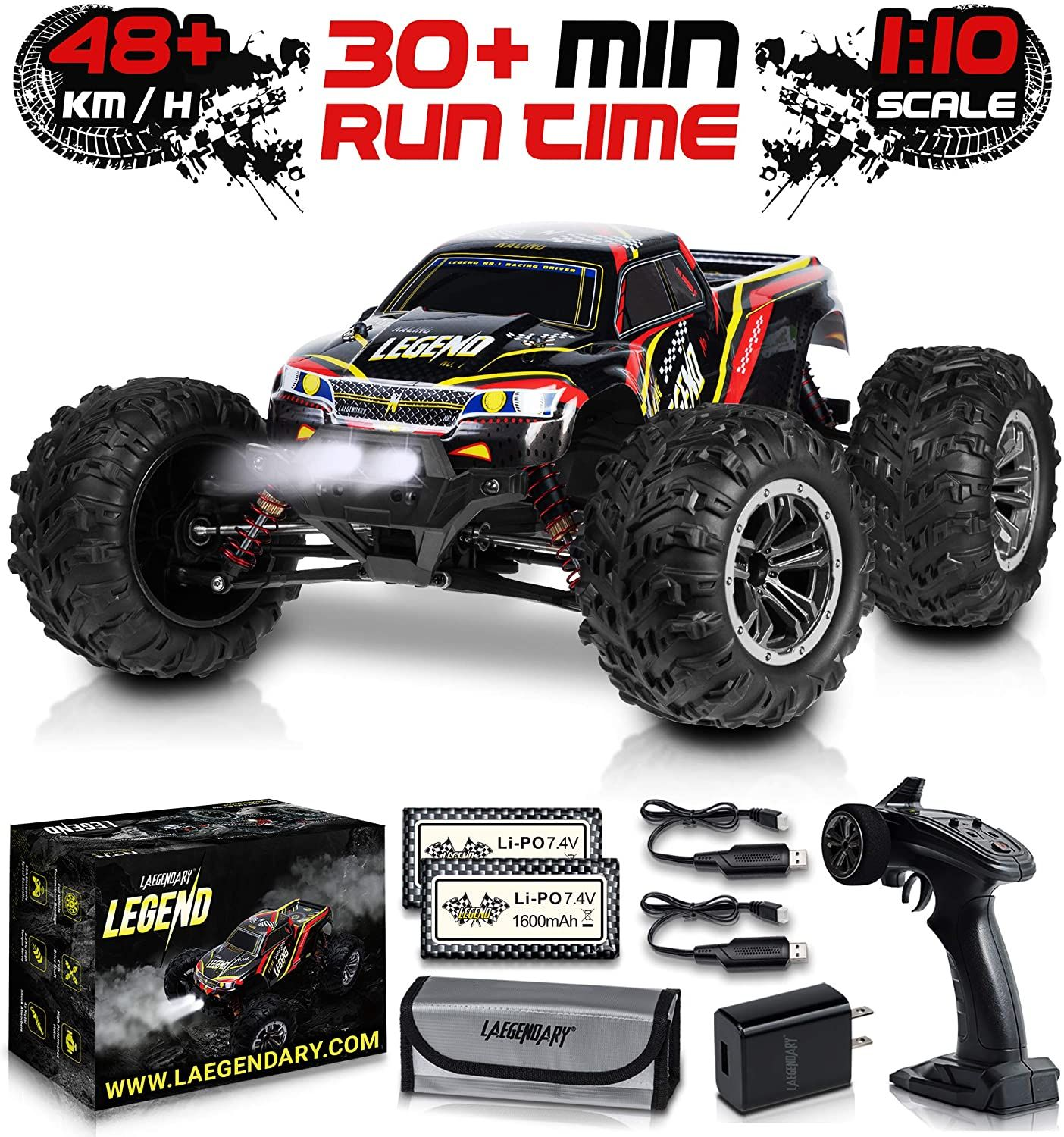 1 10 Scale Large Rc Cars 48 Kmh Speed Boys Remote Control Car 4x4 Off Road Monster Truck Electric In 2020 Nitro Rc Cars Gas Powered Rc Cars Remote Control Cars