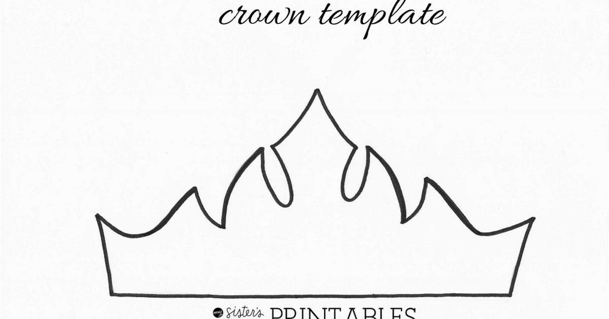 elsa crown template pdf fiesta de frozen pinterest crown