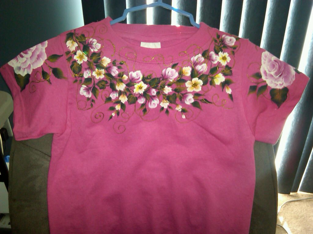 Hand painted t-shirt for a 5 year old princess