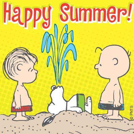 Happy Summer summer beach charlie brown snoopy peanuts linus ...
