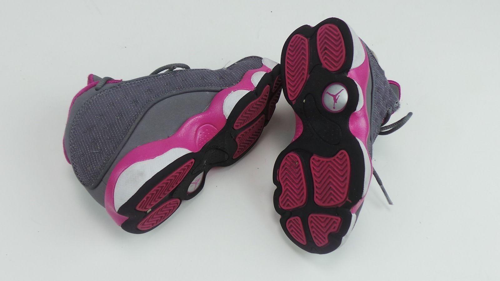 00d49cdf998db7 Nike Air Jordan 13 GS Girls Grey Pink White Jordans Retro Size 10 5 439669  029