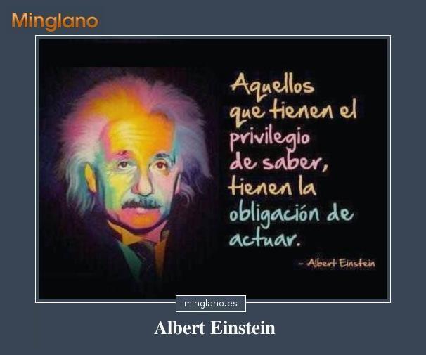 Frase Del Físico Alemán Albert Einstein Que Habla Sobre Las