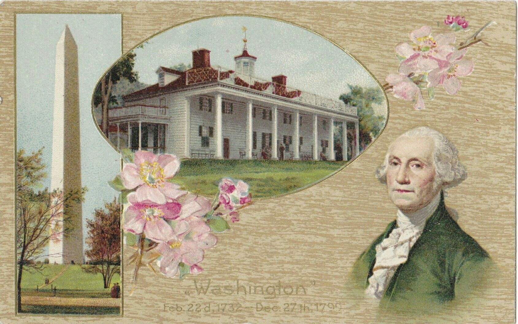 Washington S Birthday 1910s Antique Postcard February 22 George