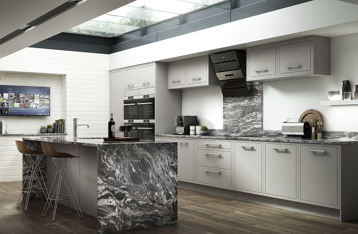 Chelsea matt dove grey benchmarx kitchens joinery for Kitchen joinery ideas