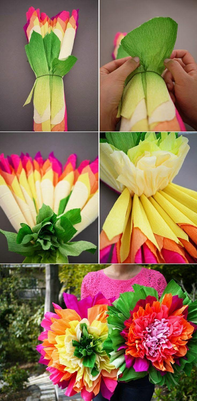 Diy crepe paper flowers craft me pinterest fiesta mayo and