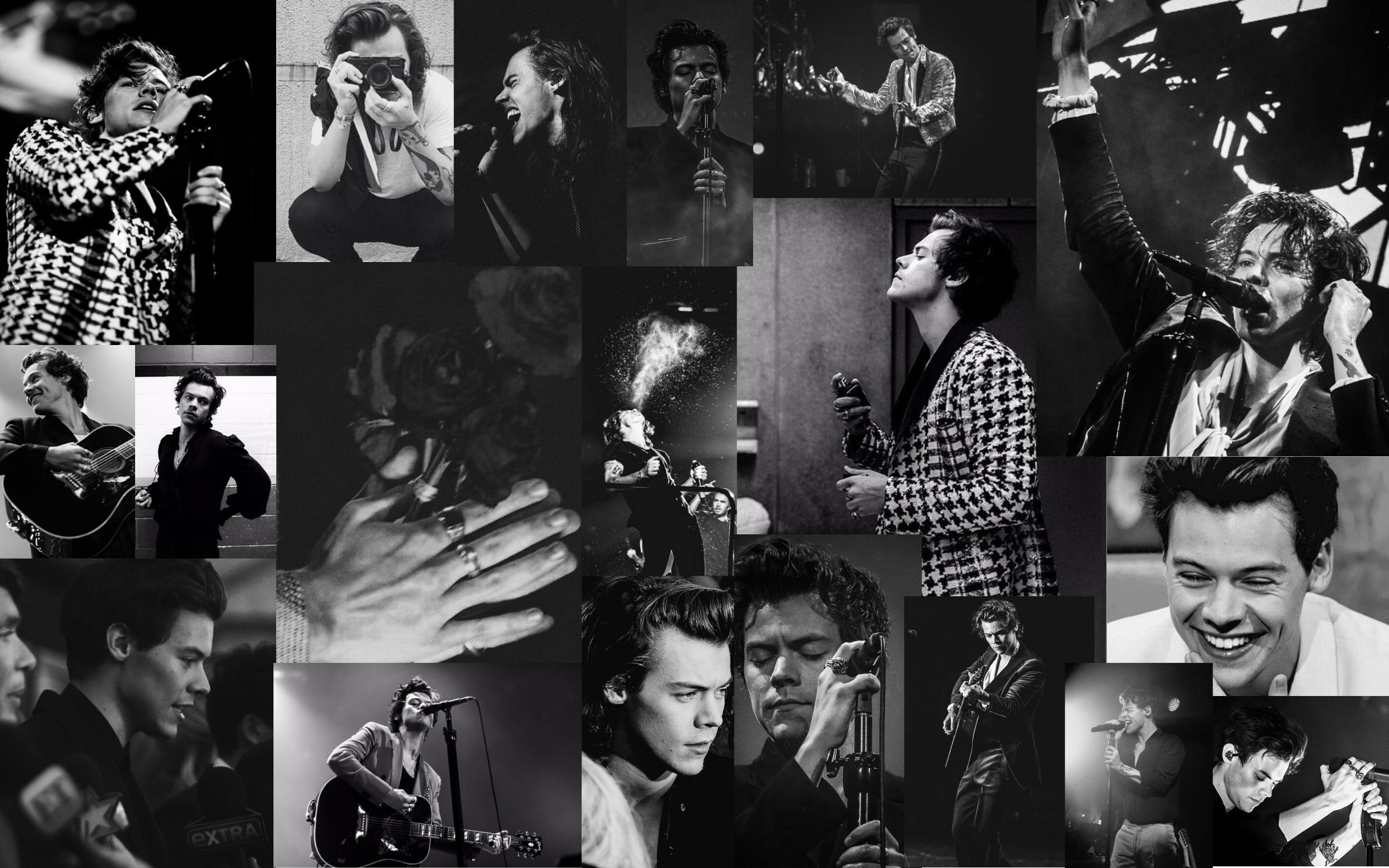 Black And White Harry Styles Wallpaper Background In 2020 Harry Styles Wallpaper Macbook Wallpaper Harry Styles