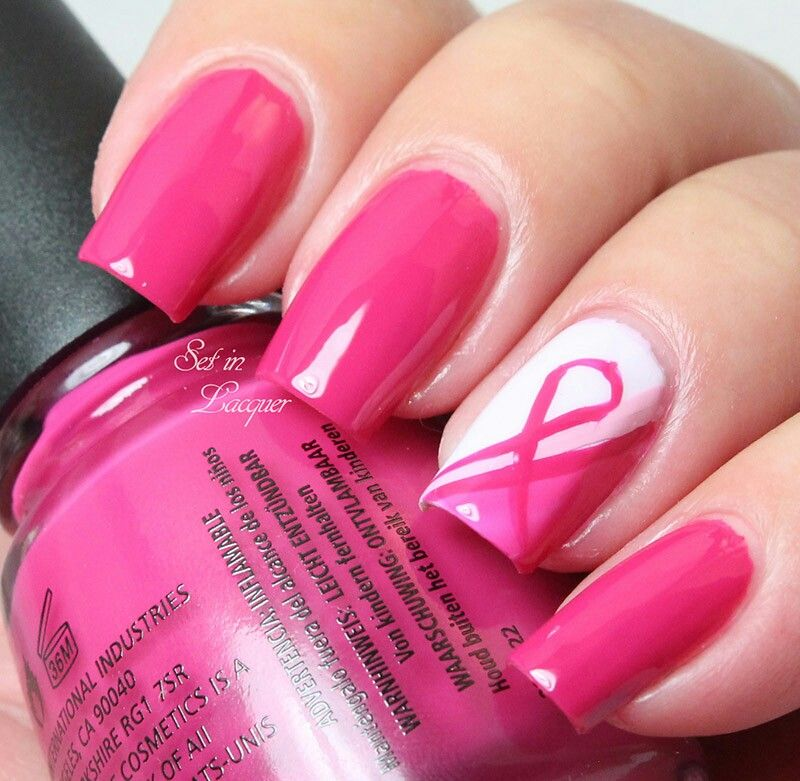 Pin on Breast Cancer Nail Art