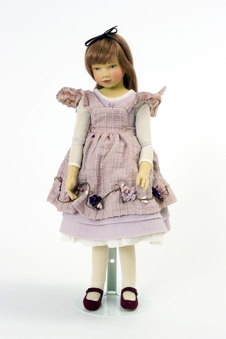 Allison Felt Molded Limited Edition Art Doll By Maggie Iacono Art Dolls Unique Dolls Doll Clothes American Girl