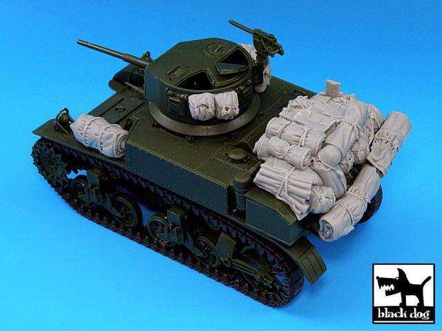 Blackdog Models 1//35 M3A1 STUART TANK ACCESSORIES SET Resin Set