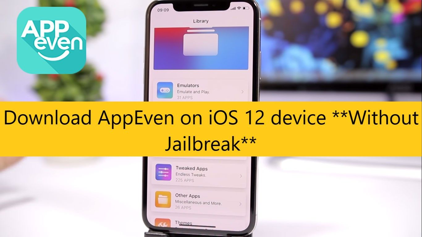 Download AppEven free on your iOS 12 device without