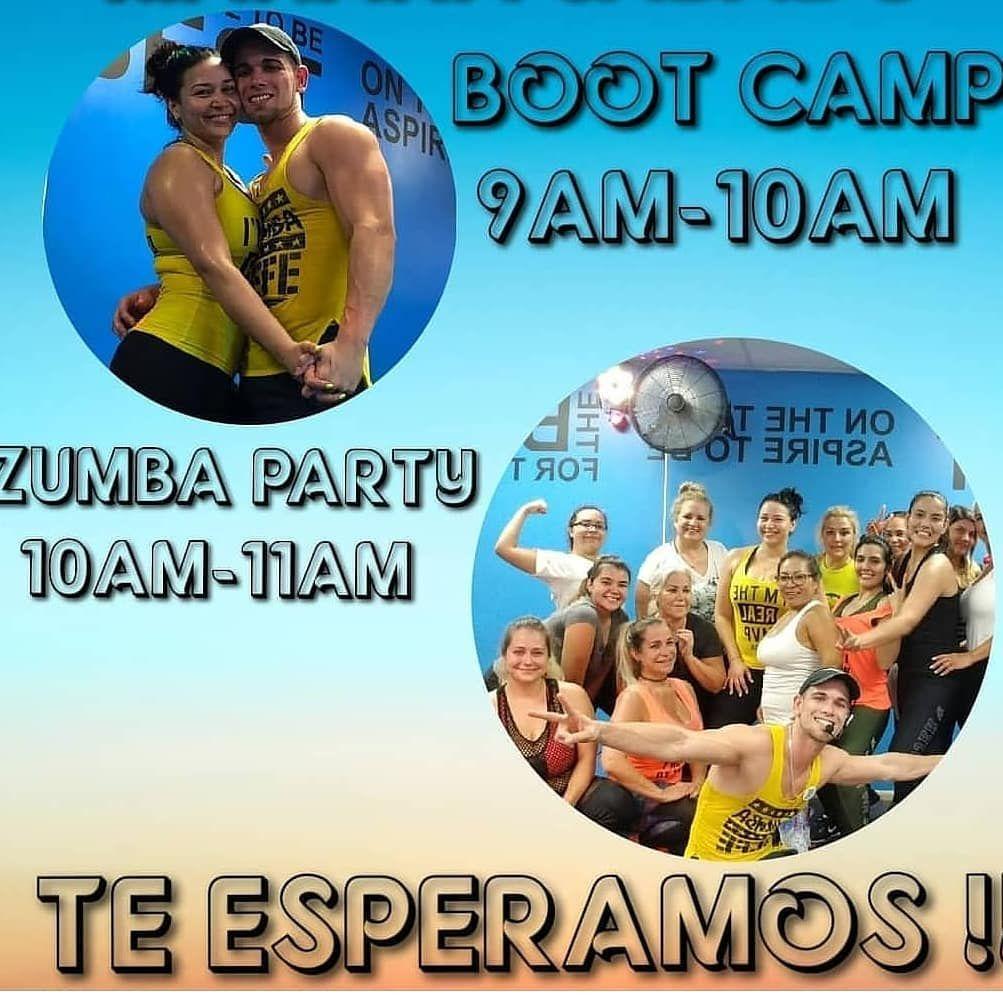 Hoy sabado seguimos #ACTIVAOS para cerrar la semana con todo. BOOT CAMP  9am-10am  ZUMBA PARTYYY...