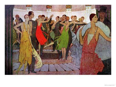 "Paris by Night, a Dance Club in Montmarte from ""L'Amout Et L'Esprit Gaulois"", Price varies depending on size, Art.com"