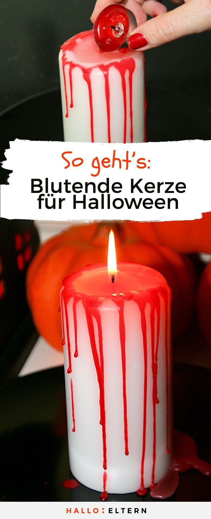 Blutende Kerze für Halloween: So kannst du sie basteln