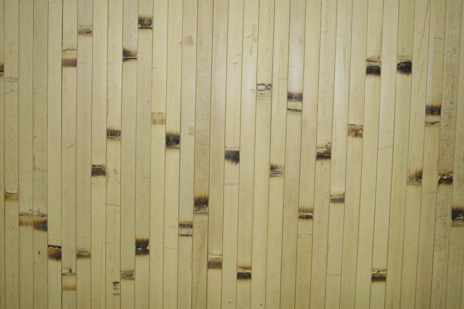 One 4 X 8 Bamboo Wall Paneling Natural Burnt Color Etsy In 2020 Bamboo Wall Wainscoting Panels Bamboo Wall Covering