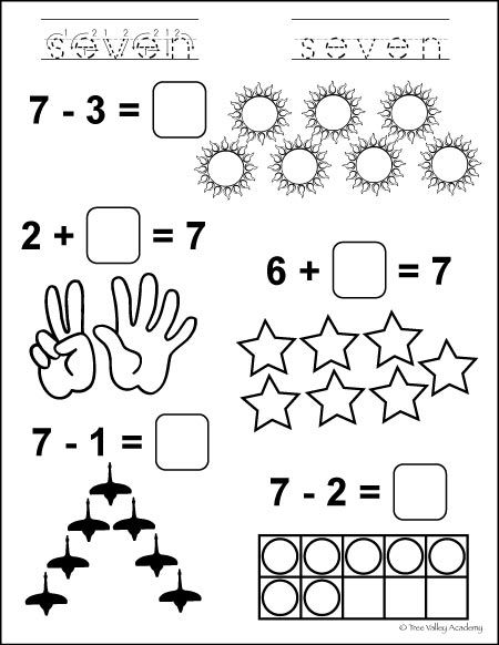 Number Bonds To 7 Free Math Worksheets Math Number Bonds Free Math Worksheets Number bonds to worksheet free