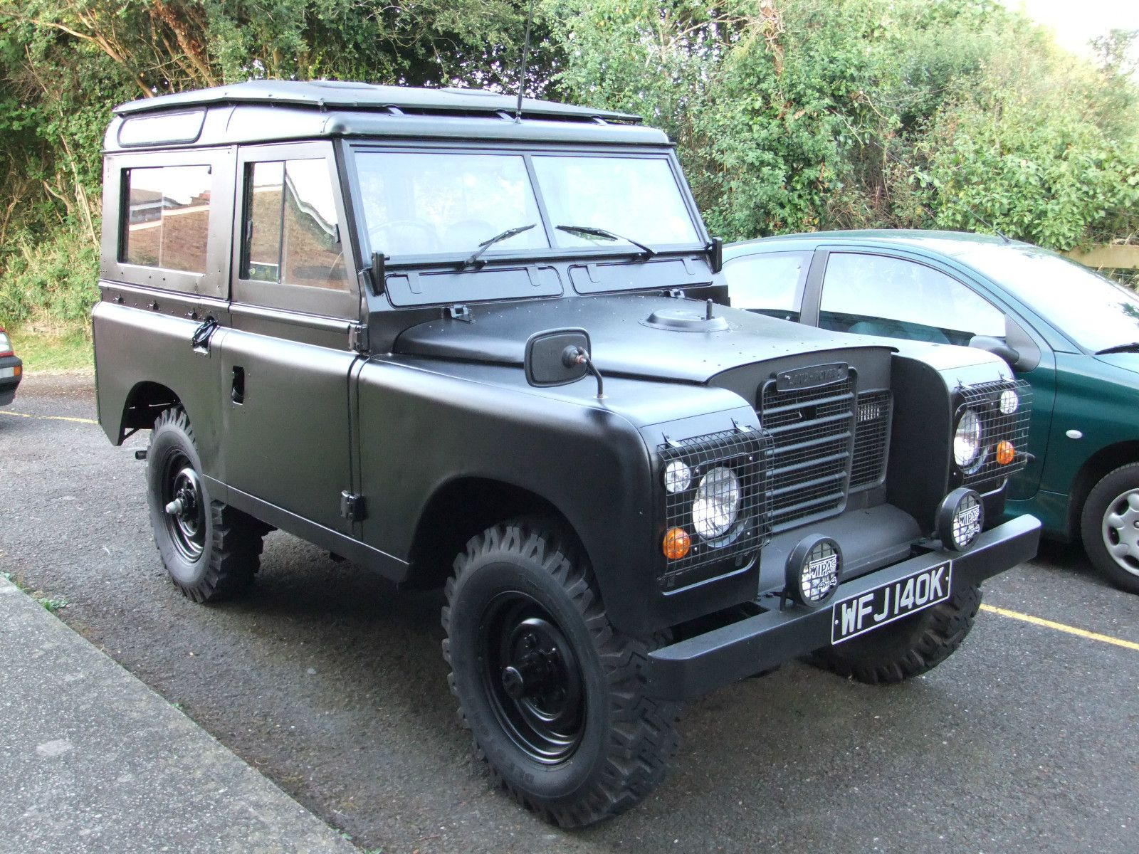 Matte Black Land Rover Series Land Rover Land Rover Defender