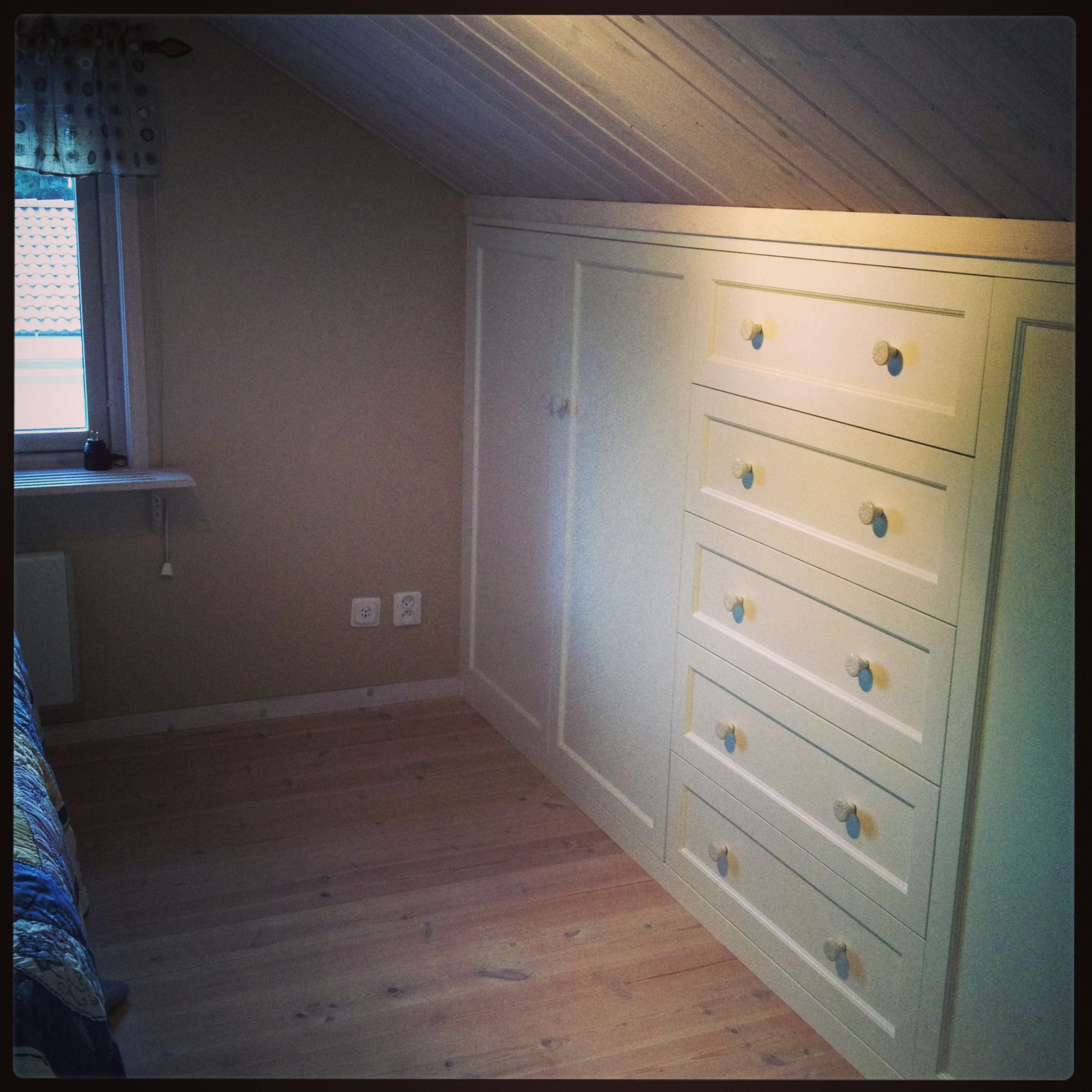Slanted Ceiling Bedroom Built In Closet For A Slanted Ceiling My Home Pinterest The