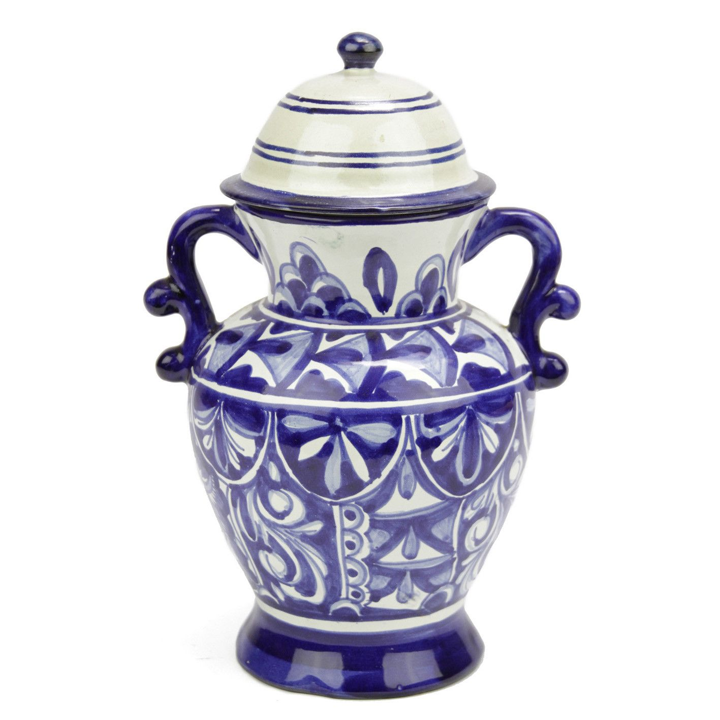 Blue Ornamental Talavera Jar