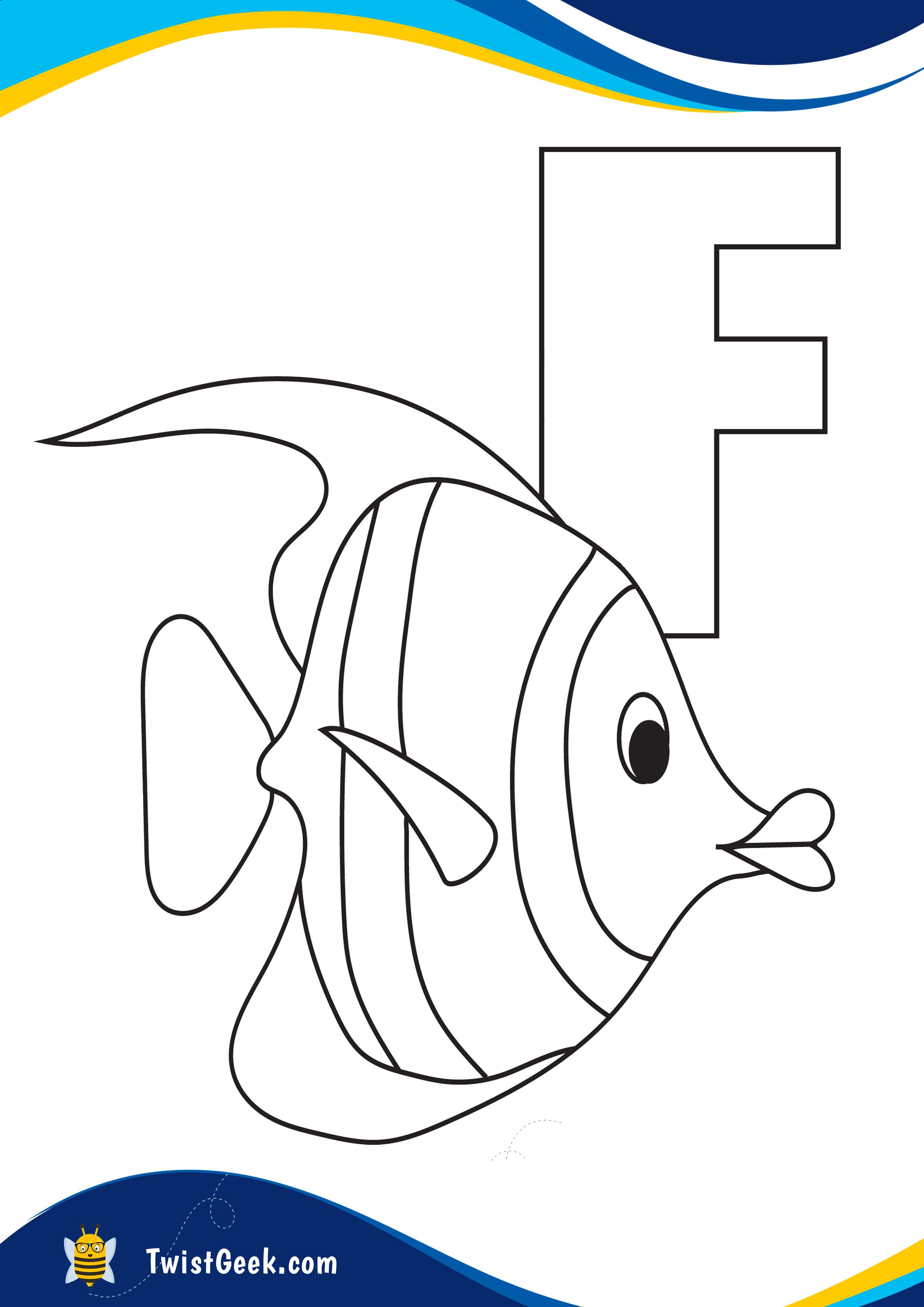 Letter F Coloring Pages In