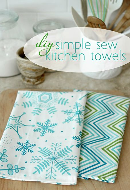 DIY ● Tutorial ● Simple Sew Kitchen Towels