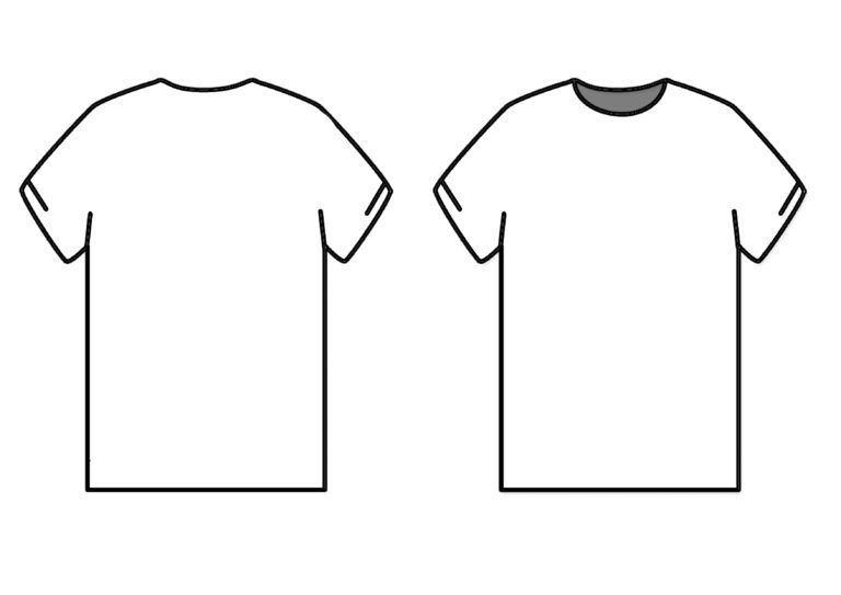 Library Of White Shirt Template Clip Library Stock Png Files Pertaining To Blank T Shirt Outline Template T Shirt Design Template Shirt Template Blank T Shirts