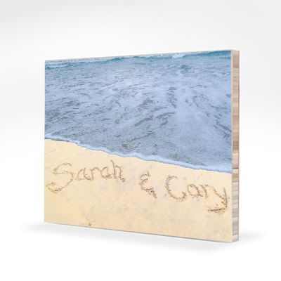 Spring Wedding Names In The Sand Anniversary Gift
