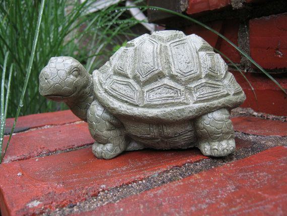 Turtle Statue, Cute Garden Turtle Statue Figure, Yard Art, Concrete Turtle,  Green Turtles, Cement Turtle, Concrete Garden Statues,