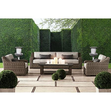 Member S Mark Colton 4 Piece Deep Seating Set Sam S Club In 2020 Outdoor Seating Set Deep Seating Deep Seating Patio Furniture