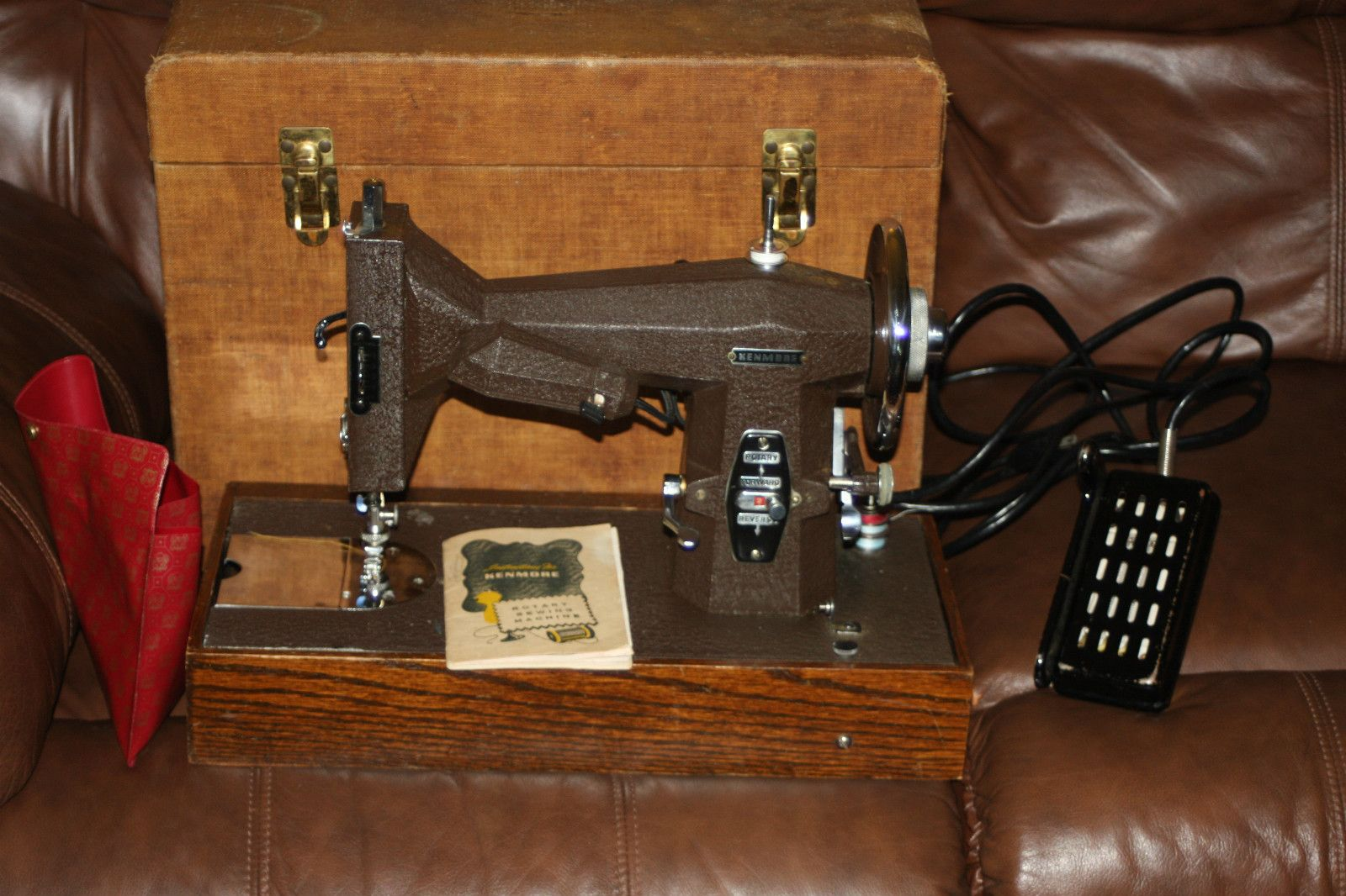 Vintage Kenmore Model 117 812 Sewing Machine W Cabinet