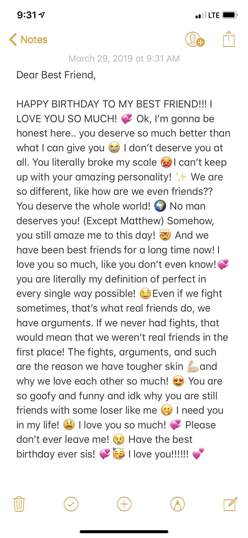 Dear Best Friend in 2020 Friend birthday quotes, Happy