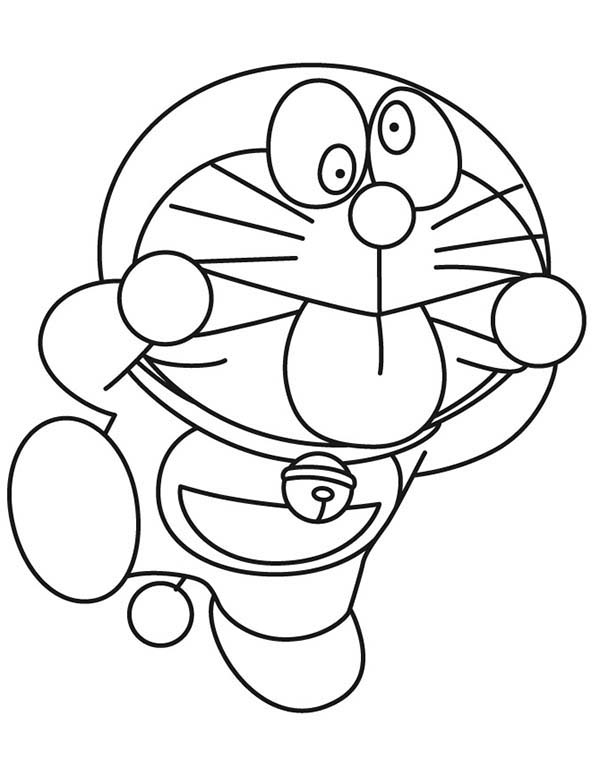 Doraemon Making Silly Face Coloring Page Coloring Sky Cartoon Coloring Pages Coloring Pages Coloring Books