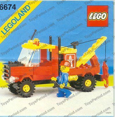 Lego 6674 Tow Truck Image 1 Anything Lego Pinterest Tow Truck