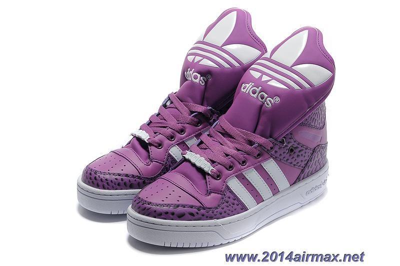 Cheap Adidas X Jeremy Scott Big Tongue Shoes Purple White