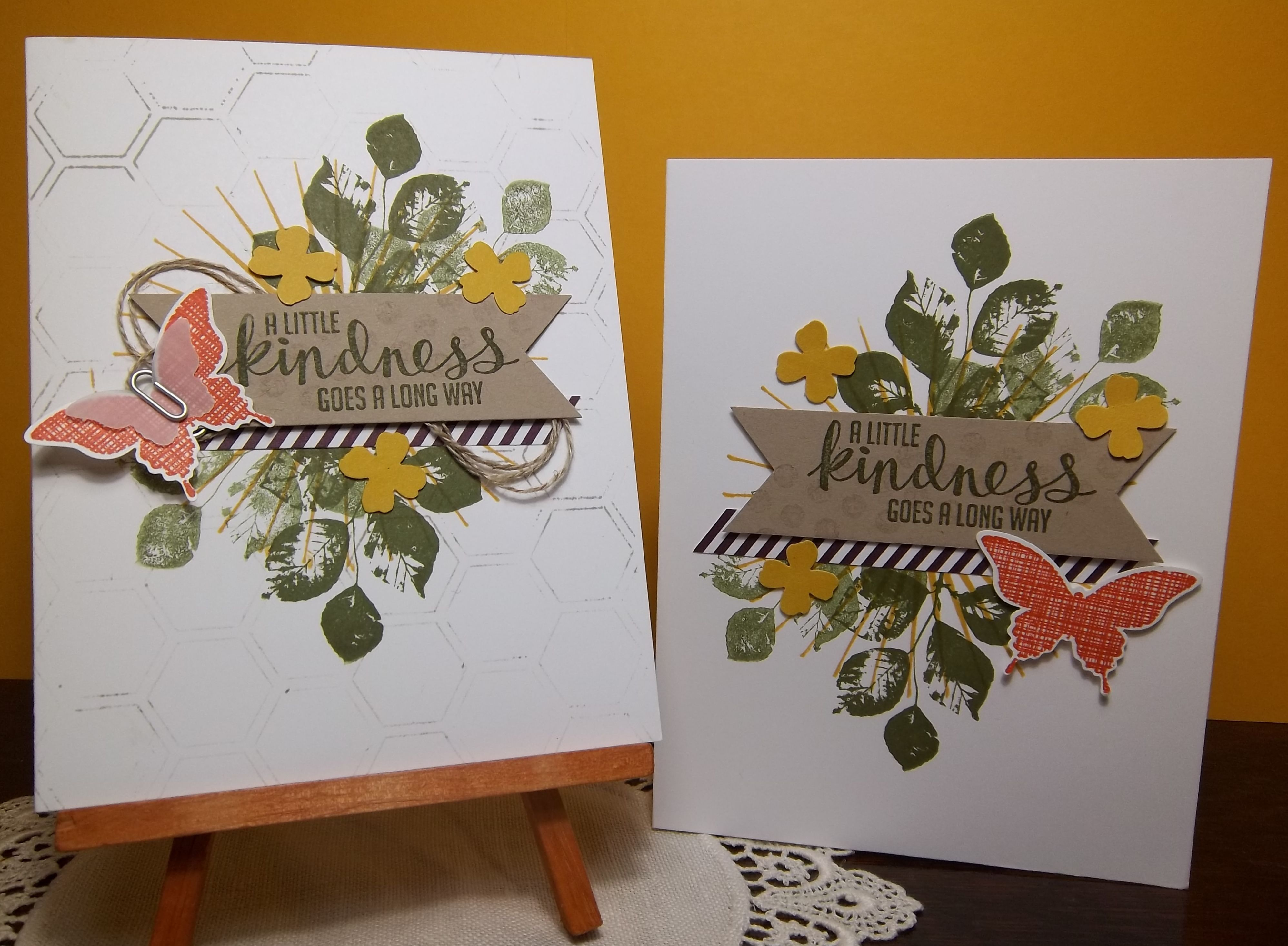 Stampin' Up! Kinda Eclectic set Make & Take cards from Stampin' Up! Convention 2014.