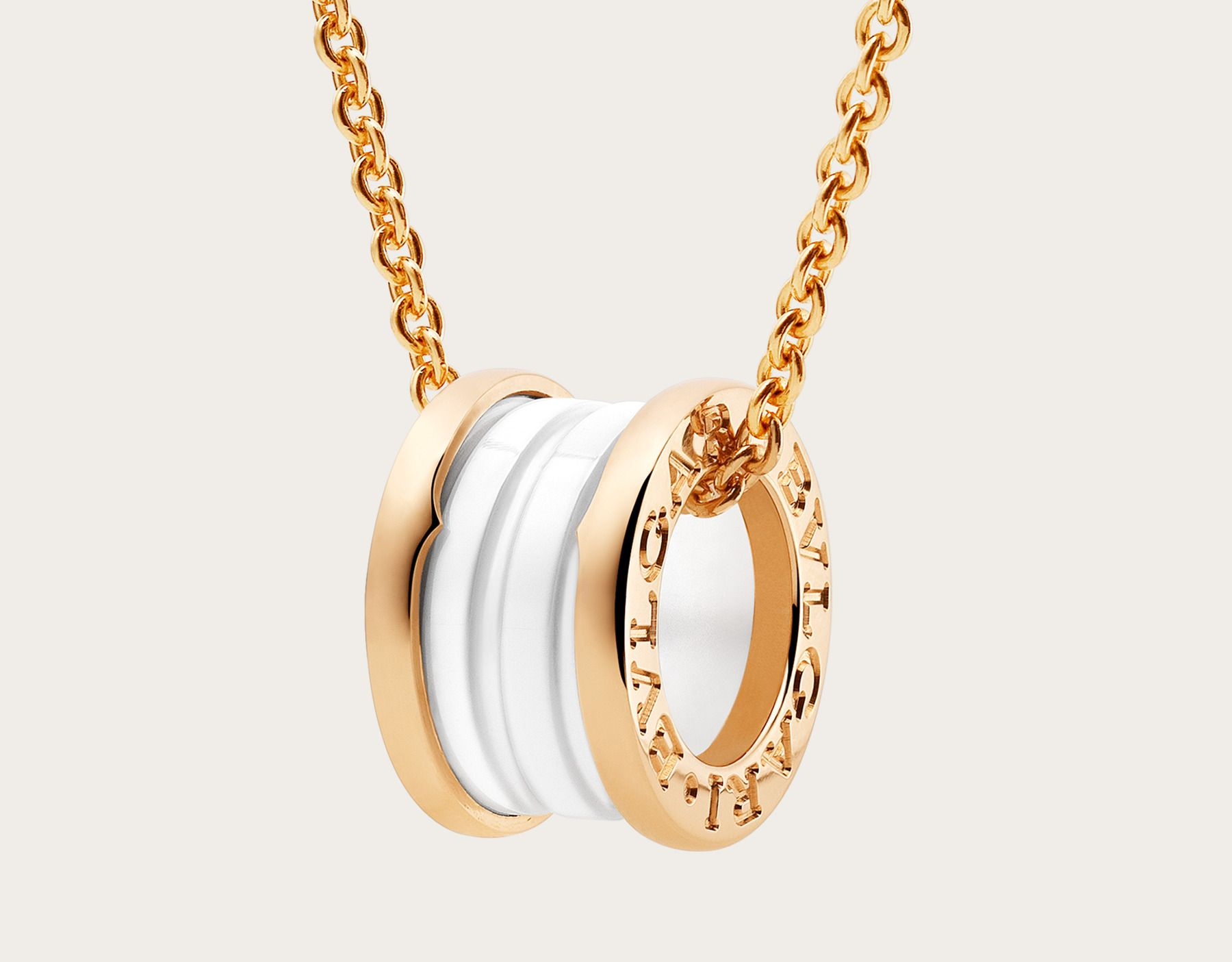 09264df62a58e b.zero1 18k rose gold and white ceramic necklace