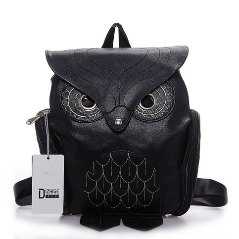 Women Bag Owl Backpack Handmade Girls Travel Shoulder School Silt Pocket Fashion