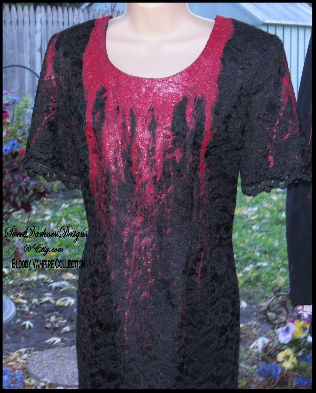Dia de los muertos dress bloody vampire dress day of the dead dress