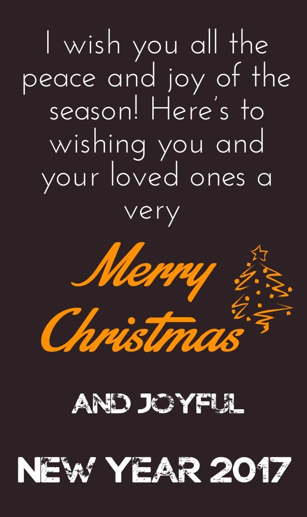 merry christmas and happy new year quotes 2017