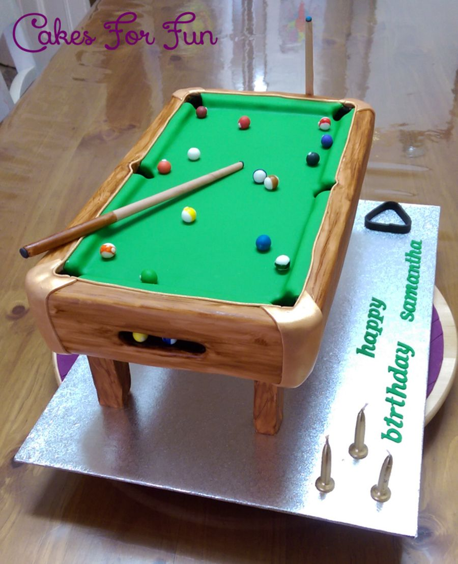 8 Ball Pool Table Pool table cake, Pool balls, Birthday